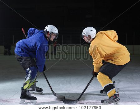 ice hockey sport players comptetition concpet poster