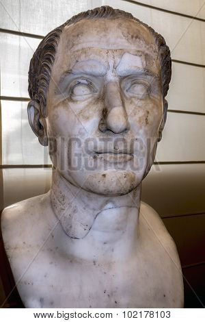 Bust Of Caesar In The Naples National Archaeological Museum
