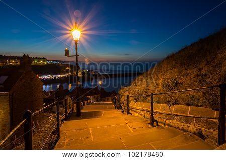 Whitbys 199 Steps At Night