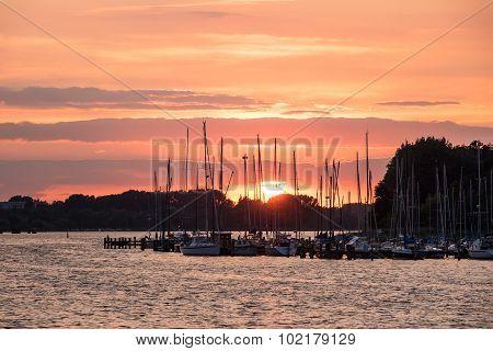 City Port In Rostock