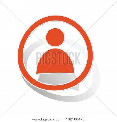 User sign sticker, orange