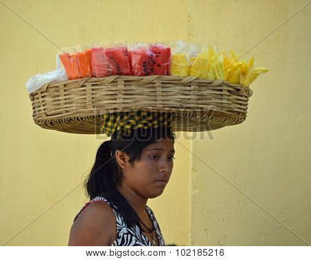 Guatemalan Lady Selling Fruit (1)