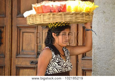 Guatemalan Lady Selling Fruit (2)