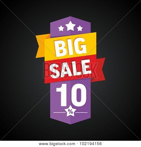 Big sale 10 percent badge. Vector illustration.