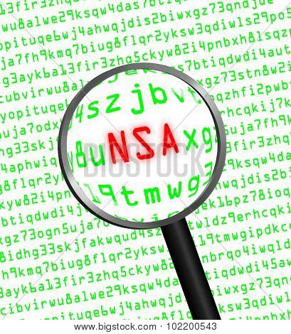 Nsa Revealed In Computer Code Through A Magnifying Glass