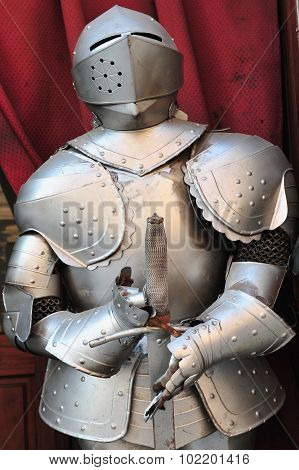 Plate armour  historical type of personal body armor made from iron or steel plates, culminating in the iconic suit of armour entirely encasing the wearer.