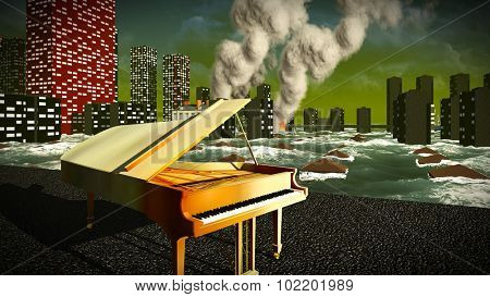 Piano as a symbol of defiance