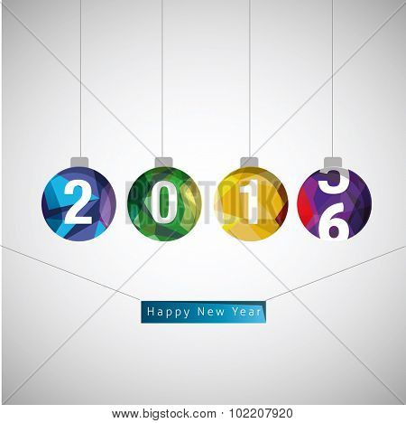Christmas and and new year vector concept 2016