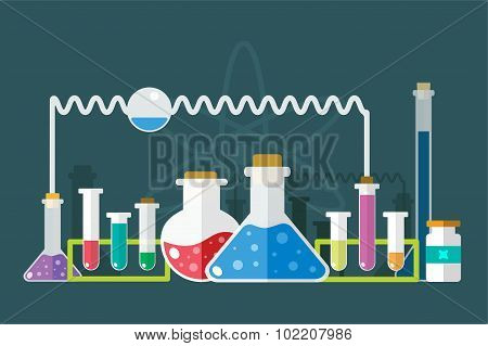Science lab icons isolated vector set