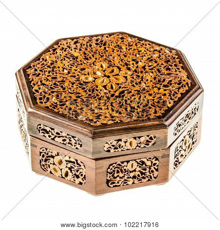 Inlaid Japanese Wooden Box