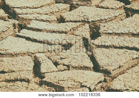 Dry mud field texture background