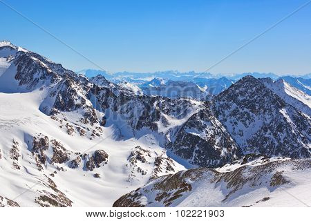 Mountains ski resort Innsbruck Austria - nature and sport background