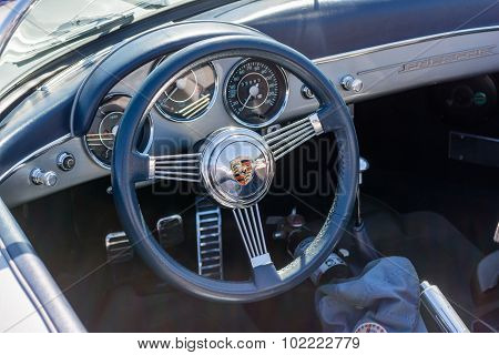Porsche Dashboard On Display