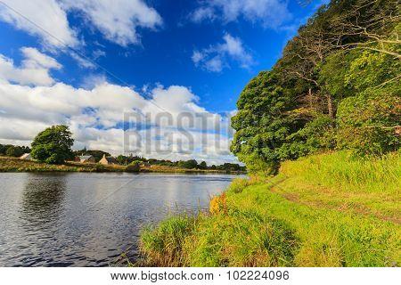 Beautiful Scene Of River Dee - Aberdeenshire Aberdeen Scotland, Uk.