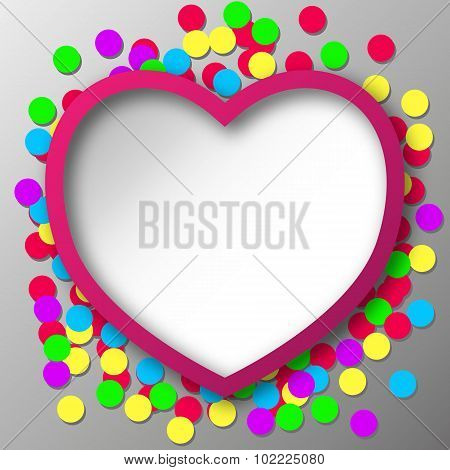 Abstract Heart With Confetti Snippets
