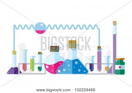 Science lab icons isolated. Science vector icons set. Education, laboratory lab icons, science icons, lab equipment. Lab glasses symbols, atom, flasks, chemistry icons. Technology icons. Virus,medical