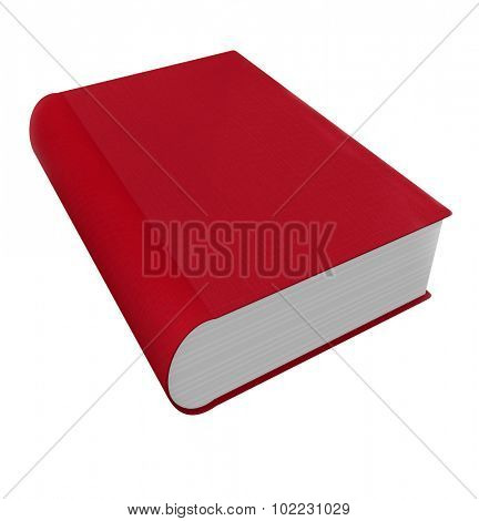 Red book cover in 3d as a novel, non-fiction, advice or self help manual