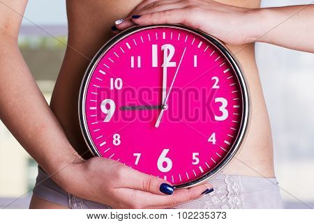 Biological Clock Ticking - Pink Watches In Female Hands