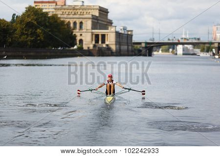 Competition Of Rowing And Canoeing