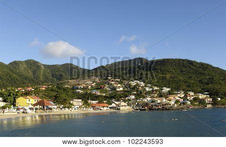 Landscape Of Les Anses D Arlet, Petite Anse In Martinique