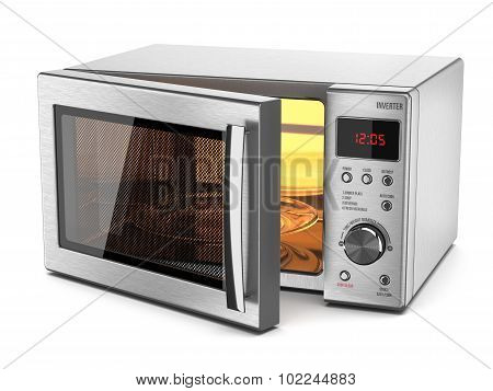 Microwave Stove Isolated On White Background 3D