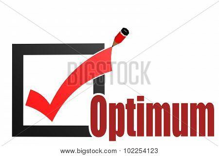 Check Mark With Optimum Word