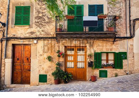 Typical House View In Valldemossa