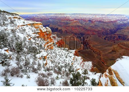 Snow Storm In Grand Canyon, AZ