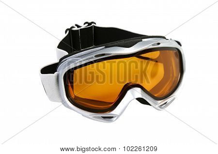 Ski Goggles Isolated On A White background poster