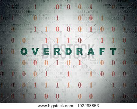 Finance concept: Overdraft on Digital Paper background