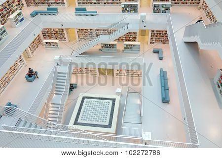 Municipal Public Library Of Stuttgart, Germany