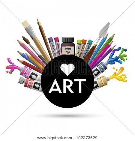 Love art, eps10 vector
