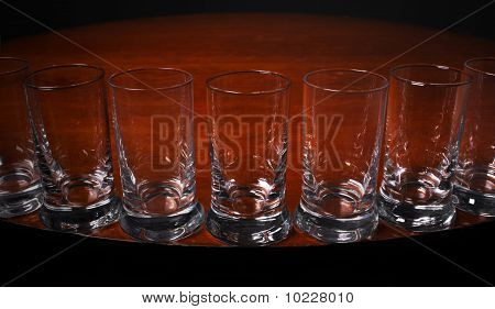 Close up of Tequilla shots