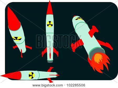 Nuclear Nuke Atomic Bomb Vector Illustration