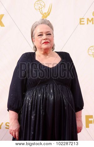 LOS ANGELES - SEP 20:  Kathy Bates at the Primetime Emmy Awards Arrivals at the Microsoft Theater on September 20, 2015 in Los Angeles, CA