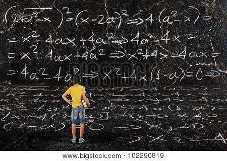 Boy And Maths