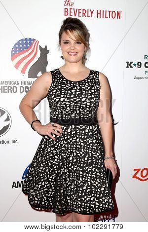 LOS ANGELES - SEP 19:  Kimberly J. Brown at the 5th Annual American Humane Association Hero Dog Awards at the Beverly Hilton Hotel on September 19, 2015 in Beverly Hills, CA