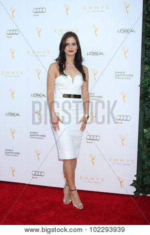 LOS ANGELES - SEP 19:  Kelsey Reinhardt at the 67th Emmy Awards Performers Nominee Reception at the Pacific Design Center on September 19, 2015 in West Hollywood, CA