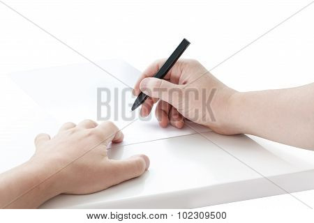 Signing hands