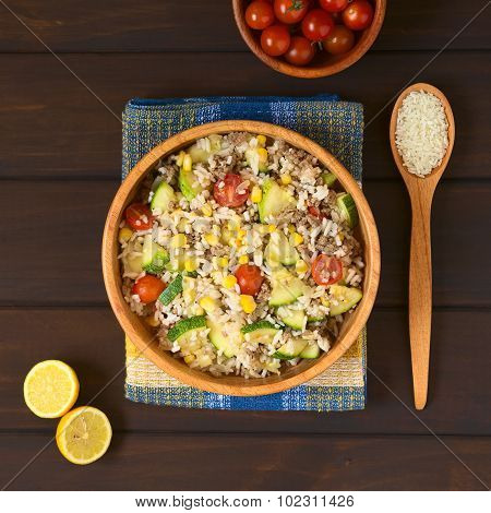 Rice with Mincemeat and Vegetables