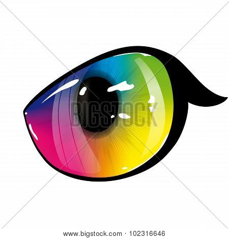 Lion Rainbow Eye