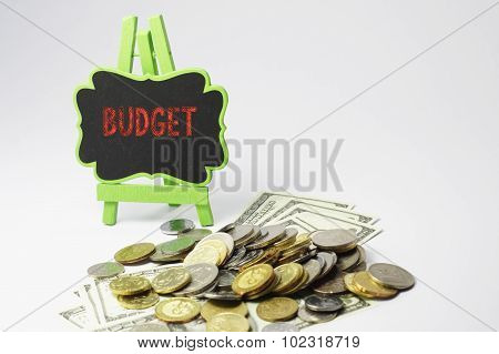 Budget Text And Money - Business Concept