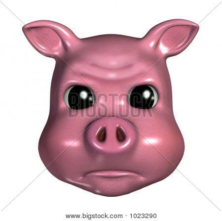 Piggy Emoticon Pouty