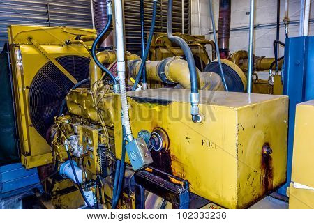 Diesel Generator Unit Has A Unit Mounted Radiator And Fuel Filter System