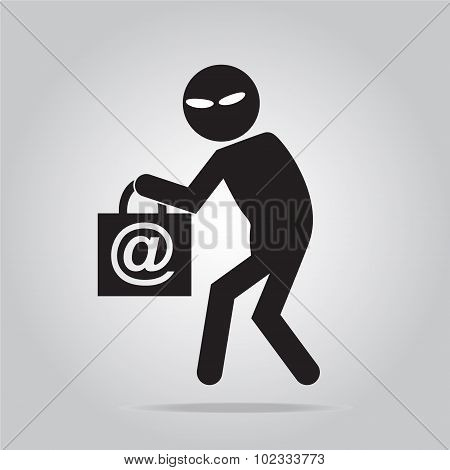 Hacker, Thief Icon Illustration
