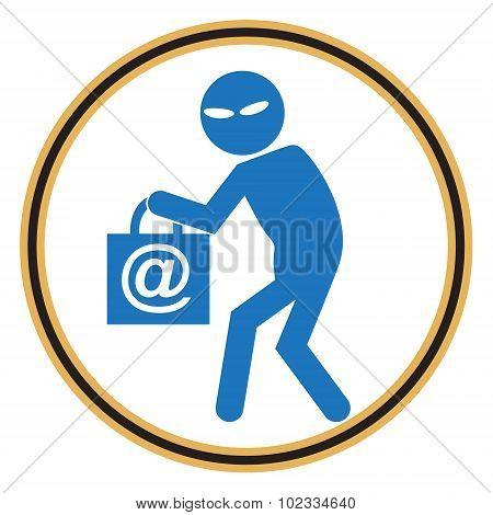 Hacker, Internet Security Concept. Thief Icon