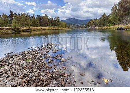 Scenic River In Cataldo, Idaho.