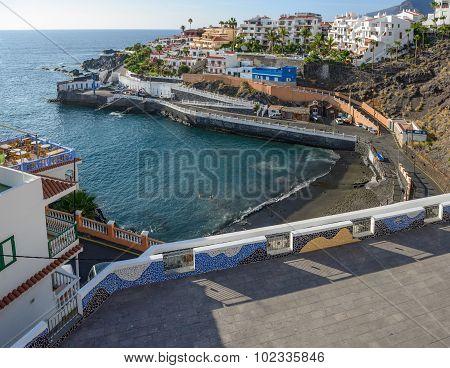 Cove Of Chica Beach In Puerto De Santiago, Tenerife, Canary.
