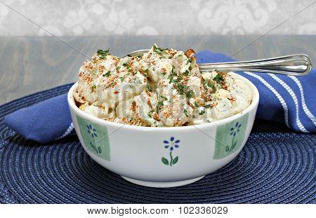 Egg Potato Salad With Pakrika And Parsley
