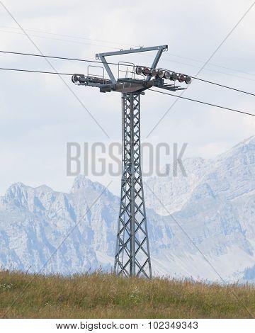 Pole Of A Ski Lift